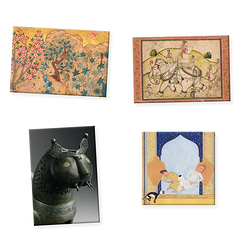 "Lot de 4 magnets ""Art de l'Islam"""