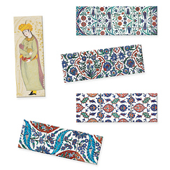 "Lot de 5 magnets panoramiques ""Art de l'Islam"""