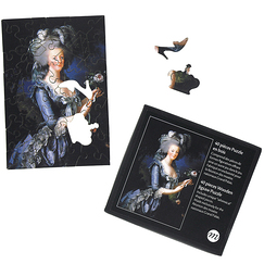 Wooden jigsaw puzzle 40 pieces - Marie-Antoinette with roses