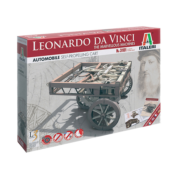 Leonardo Da Vinci Self propelling cart Model Kit - Italeri