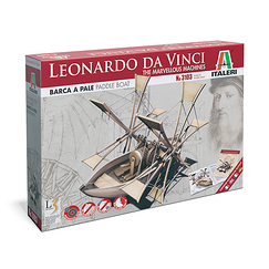 Leonardo Da Vinci Paddle Boat Model Kit - Italeri