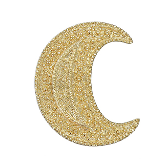 """Gold"" Crescent brooch"