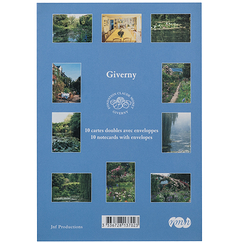 10 Cartes doubles avec enveloppes Giverny