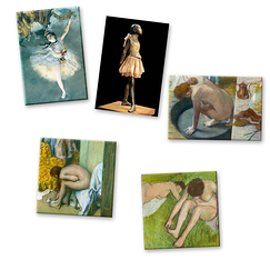 5 Edgar Degas Magnets Set