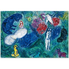 "Poster ""Le Paradis"" - Marc Chagall"