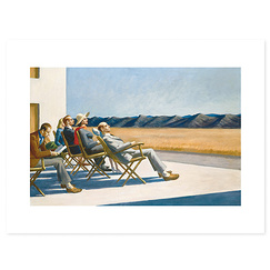 "Affiche ""People in the sun"" - Edward Hopper"