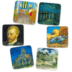6 Cork coasters Vincent Van Gogh