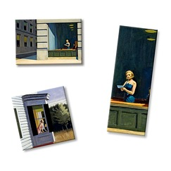 Lot de 3 magnets Edward Hopper