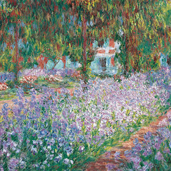 Poster The Garden in Giverny by Claude Monet