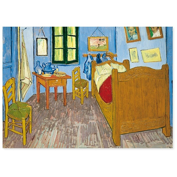 affiche la chambre de van gogh arles boutiques de mus es. Black Bedroom Furniture Sets. Home Design Ideas