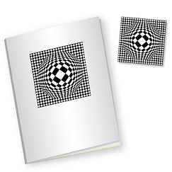 "Mirror Notebook and magnet ""Vega-Bas"", Vasarely"
