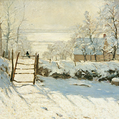 Poster The Magpie by Claude Monet