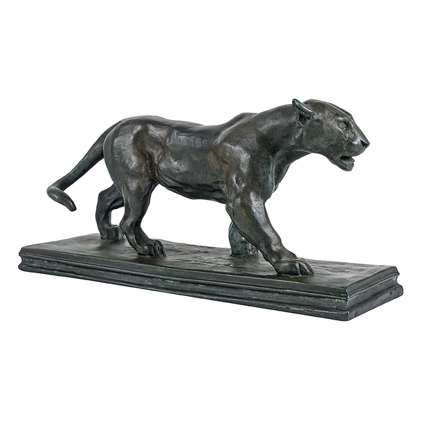 Walking Jaguar Barye - Bronze