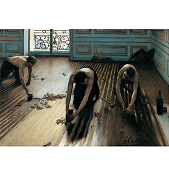 Poster The floor scrapers by G.Caillebotte