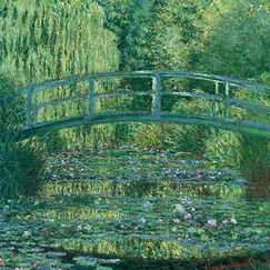 Poster The Japanese bridge, green harmony by Claude Monet