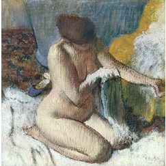 The exit from the bath or Woman wiping her left arm
