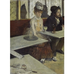 In a café, also called The absinthe drinker
