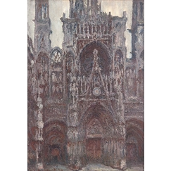 Rouen Cathedral: The Portal Front View, Brown Harmony