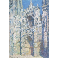 Rouen Cathedral: The Portal and the Saint-Romain Tower in Full Sun, Harmony in Blue and Gold