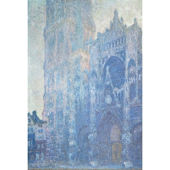 Rouen Cathedral: The gate and the Saint-Romain tower, morning effect, White harmony