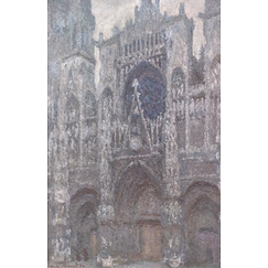 Rouen Cathedral: The gate, grey weather, Grey harmony