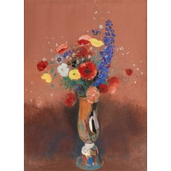 Wild flowers in a Long-necked Vase