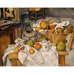 Kitchen table (Still-life with basket)