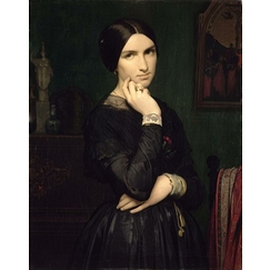 Portrait of Mrs. Flandrin, wife of the artist