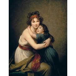 Mrs Vigée-Le Brun and her daughter, Jeanne-Lucie, known as Julie (1780-1819)