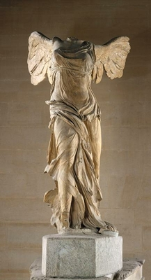 Winged victory or Victory of Samothrace
