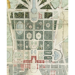 Map of the castle, the Gardens, the Small Park, Trianon, the city of Versailles under the First Empire