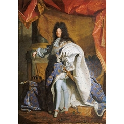 Portrait en pied de Louis XIV âgé de 63 ans en grand costume royal (1638-1715)