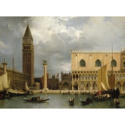 View of part of the ducal palace and the Piazzetta in Venice