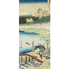 Mirror of Chinese & Japanese Verses: Tokusa gari (farmer wearing rushes)