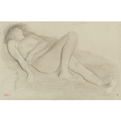 Naked woman, lying on her back
