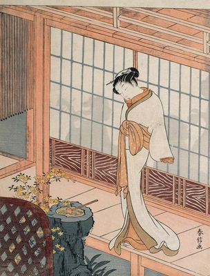 Courtesan on the engawa