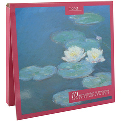 10 Notecards and envelopes Monet Waterlilies