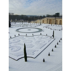 The Orangery of the Palace of Versailles under the snow in January 2009