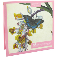 10 Notecards and envelopes Butterflies