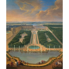 View of the Palace of Versailles from the Dragon and Neptune Basin