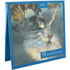 10 Notecards and envelopes Degas