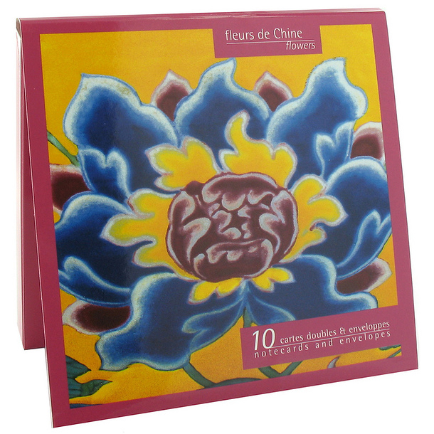 10 Notecards and envelopes Flowers of China