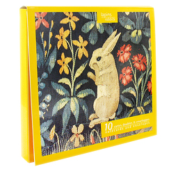 10 Notecards and envelopes Rabbits
