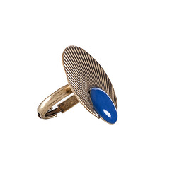 """Aurore"" ring Blue"