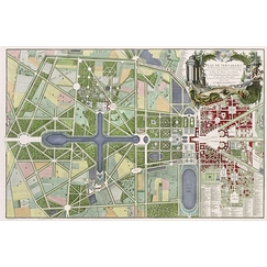 Map of Versailles, the small park and its outbuildings