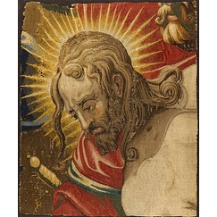 Tapestry: Christ's head of the Saint-Merry hanging