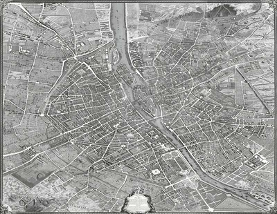 Map of Paris, known as Turgot's map