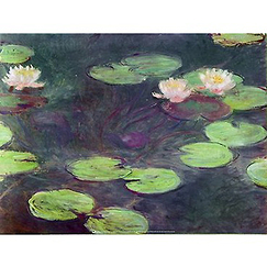 Poster The Pink Waterlilies by Claude Monet