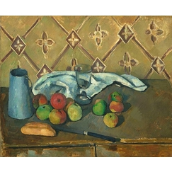 Fruits, Napkin and Jug Of Milk