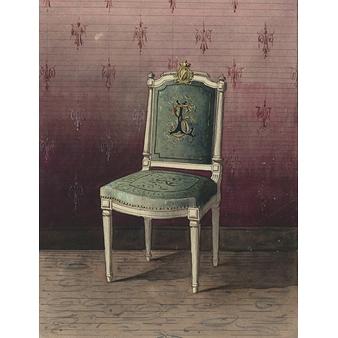 projet de chaise recouverte d 39 une tapisserie boutiques de mus es. Black Bedroom Furniture Sets. Home Design Ideas